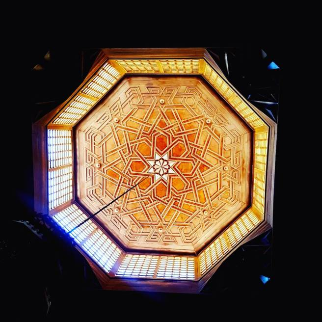A Ceiling In One Of The Mosques