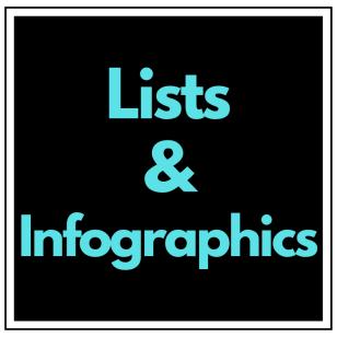 Lists and Infographics